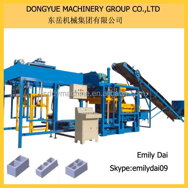QT4-25 Concrete hollow cement block making machine prices and paver brick making machine for sale