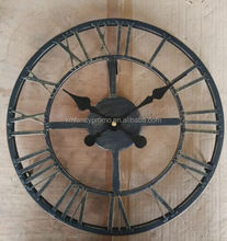 Metal antique wall clock outdoor waterproof