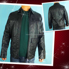 Wholesale Mens PU Jacket leather coat stocklots with big discount 130906h