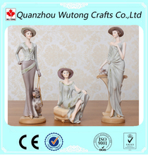 wholesale beauty sexy resin girl figurine for home decoration