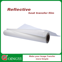 QingYi reflective plastic film as substate of heat transfer sticker