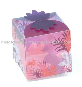Custom Print Clear Folding Gift Boxes