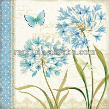 Hand Painted Canvas Picture Blue Flower