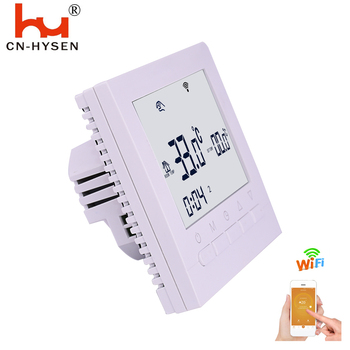Economical white backlight button wifi thermostat with surface mounted installation box