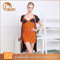 Wholesale beautiful women nightwear , Cotton/Polyester women sexy night wear for ladies