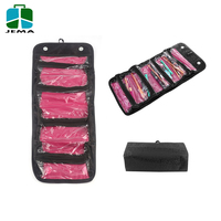 Black Roll-up Hanging Travel Cosmetic Jewellery Bag