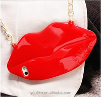 Fashionable silicone phone case for iphone, for samsung galaxy note3 4s soft sexy mouth case sex mouth case