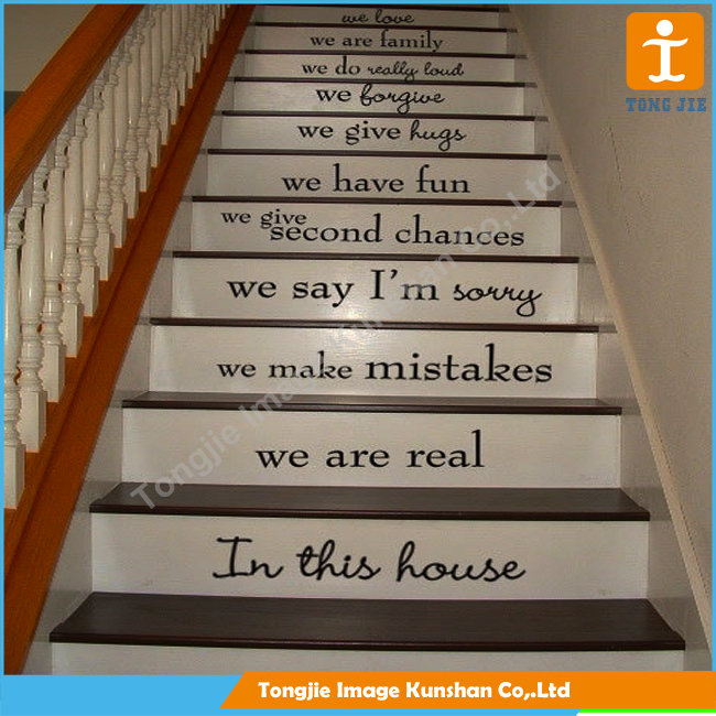 Custom wholesale stairs sticker ,wall sticker for decoration