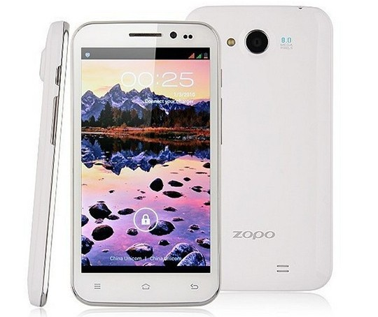 ZOPO ZP820 MTK6582 1.3GHZ Quad Core Mobile Phone, 5.0'' QHD 960*540 Screen, 8MP+2MP HD Camera, RAM 1GB ROM 4GB, 2000mAh Battery