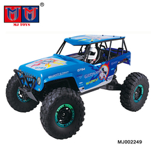 4wd super speed racing mountain crawler wl powerful rc car 1/10 with cool shaped