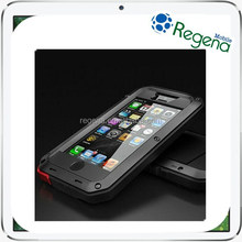 Best Discount Waterproof Shockproof Aluminum Tempered Glass Metal Cover Case for iPhone / Samsung