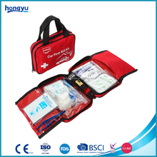 OEM and ODM personal care product red nylon 600D emergency car first aid kit