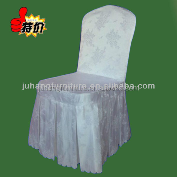 Cheap White polyester chair cover for wedding