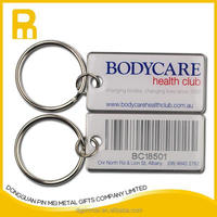 2015 new products aluminum qr key fobs with epoxy covering
