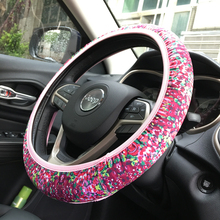 2017 Wholesale Shenzhen Fashion Neoprene Car Steering Wheel Cover Crown Coral Rose Free Size Neoprene Wheel Cover DOM604