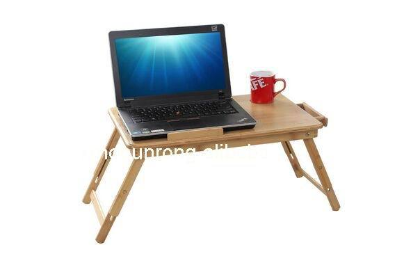 Pliable en bambou table d'ordinateur portable, ordinateur portable bureau