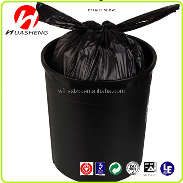 Custom printing liquid packaging plastic t-shirt garbage bag in roll