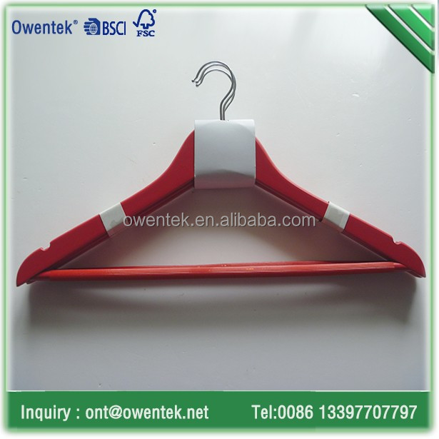Bedroom furniture practical red coat hanger with red round bar