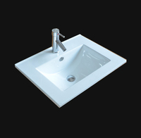 SN1548-60 White Bathroom Cabinet Small Wash Basin With CUPC Certificate