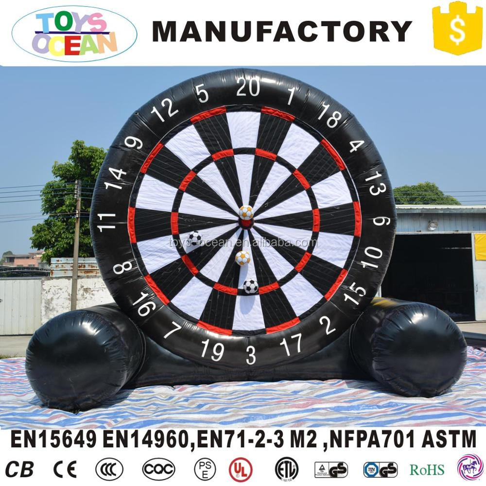 giant outdoor football shooting sport inflatable soccer dart