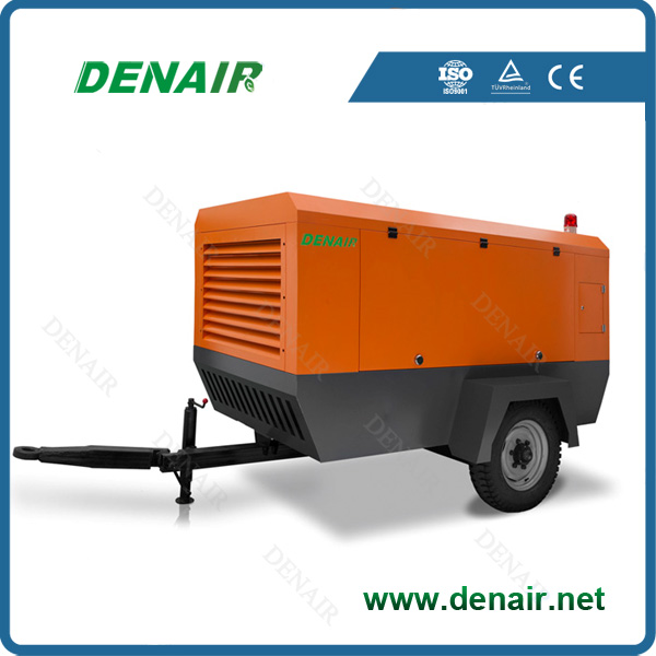 8bar 10bar 13bar diesel mobile air compressor with jack hammer