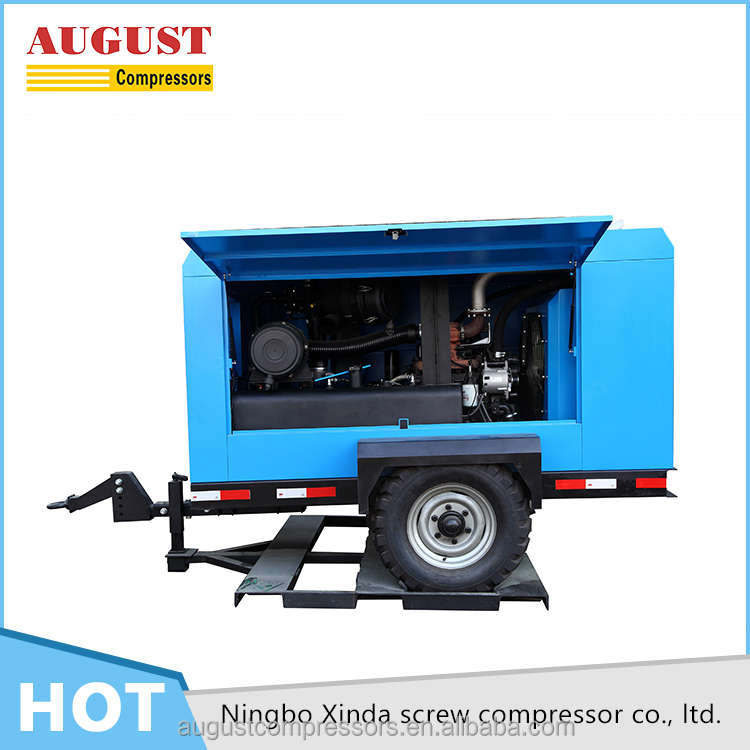 93KW 13bar diesel driven screw portable air compressor