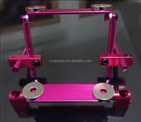 Alloy Invisible Stealth Body Post Strong Magnetic For RC 1:10 Model Car Pink Color