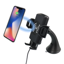 Universal mobile phone wireless charging dashboard holder QI wireless car windshield mount charger for iPhone for Samsung