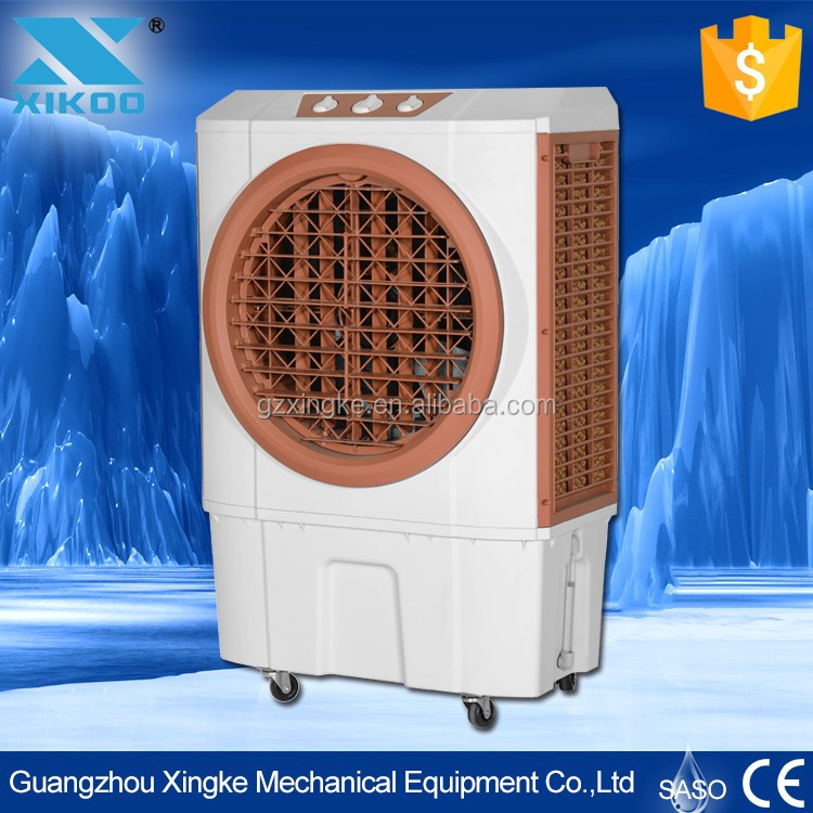 household floor standing water air cooler with Four Wheels