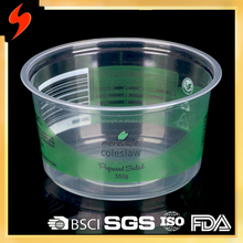 Hot Selling 500ml clear plastic food disposable container