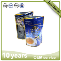 factory manufacture food grade resealable doypack aluminum foil coffee pouch