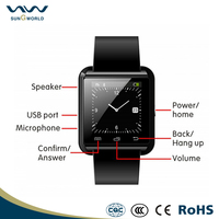 Hot android smart watch mobile phones support Multi-language