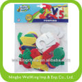 Adhesive Assorted Color Alphabet and Number Felt Stickers
