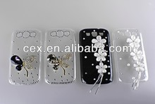NEW 3D Pink Bling Flower Diamond Case Cover For Samsung Galaxy S3 III i9300 HOT