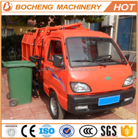 Electric Side Bucket Lift Light Garbage Dump Truck