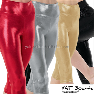 Skin comfort soft 4 metallic colours girls gymnastics leotards yoga clothes small order private label wholesale dancewear