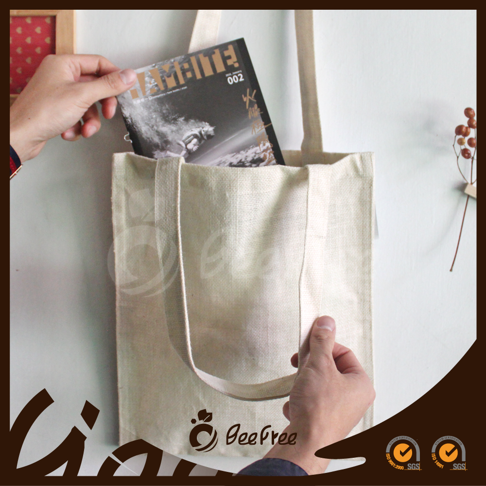 Custom Made Reusable Natural Wholesale Eco-friendly Shopping Cotton Tote Bag