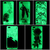 new Transparent noctilucous mobile phone case For huawei p8 lite For samsung s6 For iphone 6