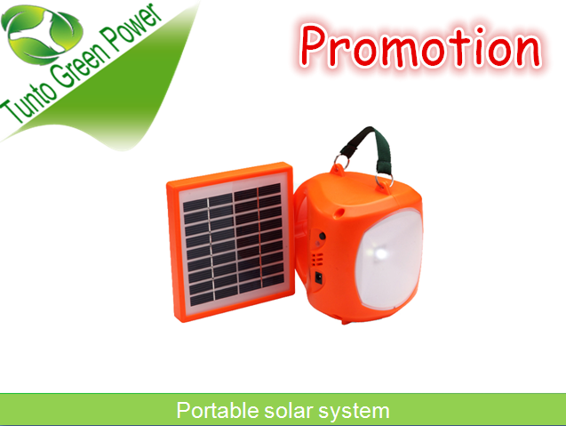 Special promotion:orange Solar lantern system 3200mAh 6V lead acid battery for mobile phone charger