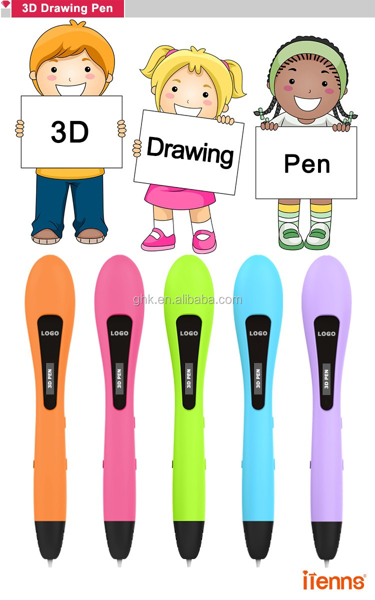 2017 itenns VP02 3d pen stimulate children's creativity drawing pen 3d with low temperature PCL filament