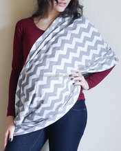 NO MOQ chevon design nursing scarf