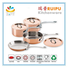 2017 Europ-style product wholesale 316l stainless steel cookware,stainless steel indian hot pot set/copper pot and pan