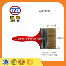 Blend bristle with syntheti fiber, red solid plastic handle brush