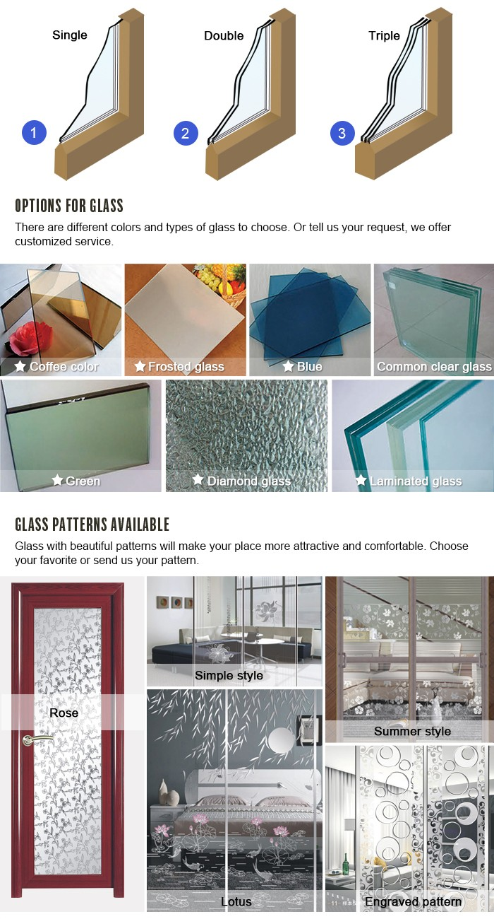 powder coated thermal break aluminum profile window factory