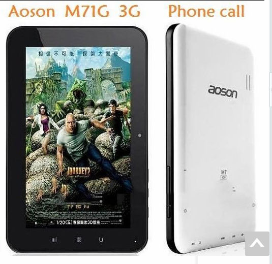 7inch 3G phone call tablet Pc Allwinner A10 1.2 Ghz android 4.0 1gb ram 8gb rom twol camera wifi Anson M85g