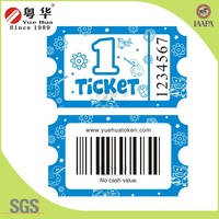 Hot sale 170g double coated art paper amusement game lottery ticket fot lottery machine