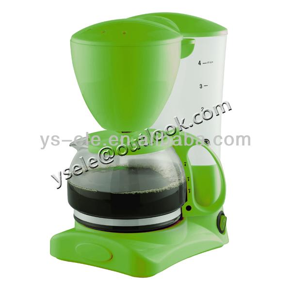 4 bis 6 tasse elektrische kaffeemaschine mit schwarz wei. Black Bedroom Furniture Sets. Home Design Ideas