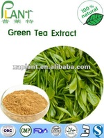 High quality 100% Natural Green Tea Extract/Tea polyphenol with light yellow powder and competitive price
