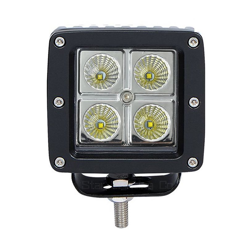 Factory Direct Supply 16w square shape flood beam LED driving Light Offroad ATV UTV Motorcycle foglight PC LENS led worklight