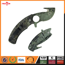 2016 Newest stainless steel camo coated army folding knife